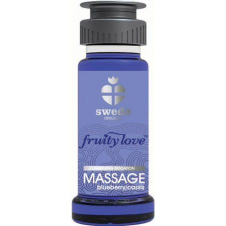 Huile de massage Cassis Blueberry 50ml Swede Huiles de Massage SWD-01980 Lerotika