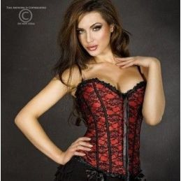 Corset rouge a broderies Chilirose Corsets & Bustiers & Serres-taille CR-3306 Lerotika