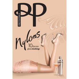 Bas PJ nylon naturel Pretty Polly Bas Jarretelles PP-PNAF84-NA Lerotika