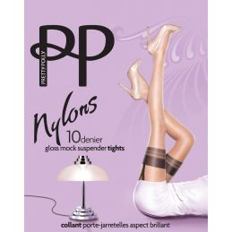 Collants nylon façon bas PJ Pretty Polly Collants Fantaisies & Résilles PP-PNARL9 Lerotika