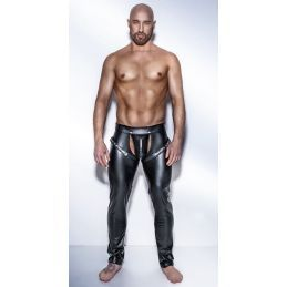 Chaps Noir Powerwetlook H042 - S Noir Handmade Exclusive Pantalons BDSM & Jupes BDSM 2200078000100 Lerotika