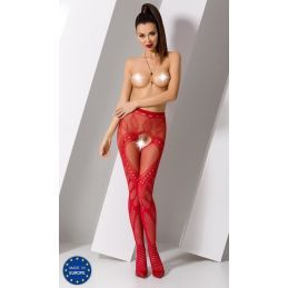Collant Rouge Sexy S007 - TU Passion Collants Ouverts 3700427000500 Lerotika