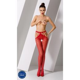 Collant Rouge Sexy S001 - TU Passion Collants Ouverts 3700409000500 Lerotika