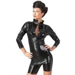 Tee Shirt en Latex avec Zip - XL LateX Grandes Tailles BDSM 3700398000400 Lerotika
