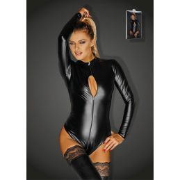 Body Wetlook Monarch F134 - XL Noir Handmade Exclusive Grandes Tailles BDSM 3200136000400 Lerotika