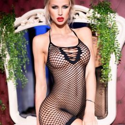 Robe résille noire Chilirose Robes Sexy CR-4229-N Lerotika