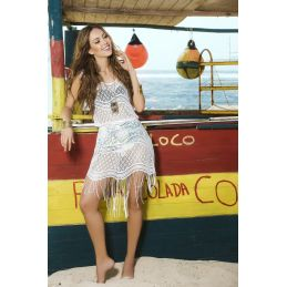 Beach dress white 7794 Mapalé Robes de Plage MAP-03019 Lerotika