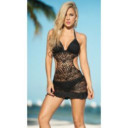 Beach dress black 1029 Mapalé Robes de Plage MAP-03007 Lerotika