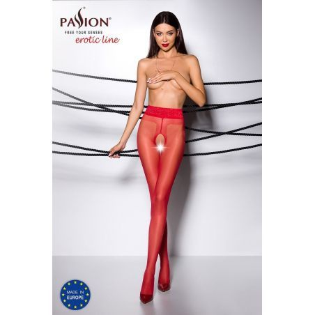 Collant Ouvert Rouge TI001 - T 1/2 Collants Ouverts 3700450000012 Lerotika