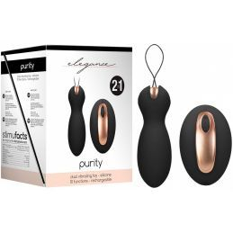 Double Stimulateur Rechargeable 2en1 Purity Noir Elegance Stimulateurs Rechargeables 1105033000000 Lerotika