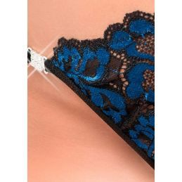 String dentelle bleue Chilirose Strings CR-3838 Lerotika