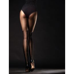 Poison Collants - 40 DEN Noir Fiore Collants Fantaisies & Résilles FI-5010 Lerotika