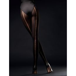 Wild Side Collants 60 DEN - Noir Fiore Collants Opaques FI-5017 Lerotika