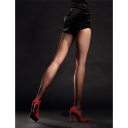 Unique Collants 20 DEN - Noir Fiore Collants Fantaisies & Résilles FI-5018 Lerotika